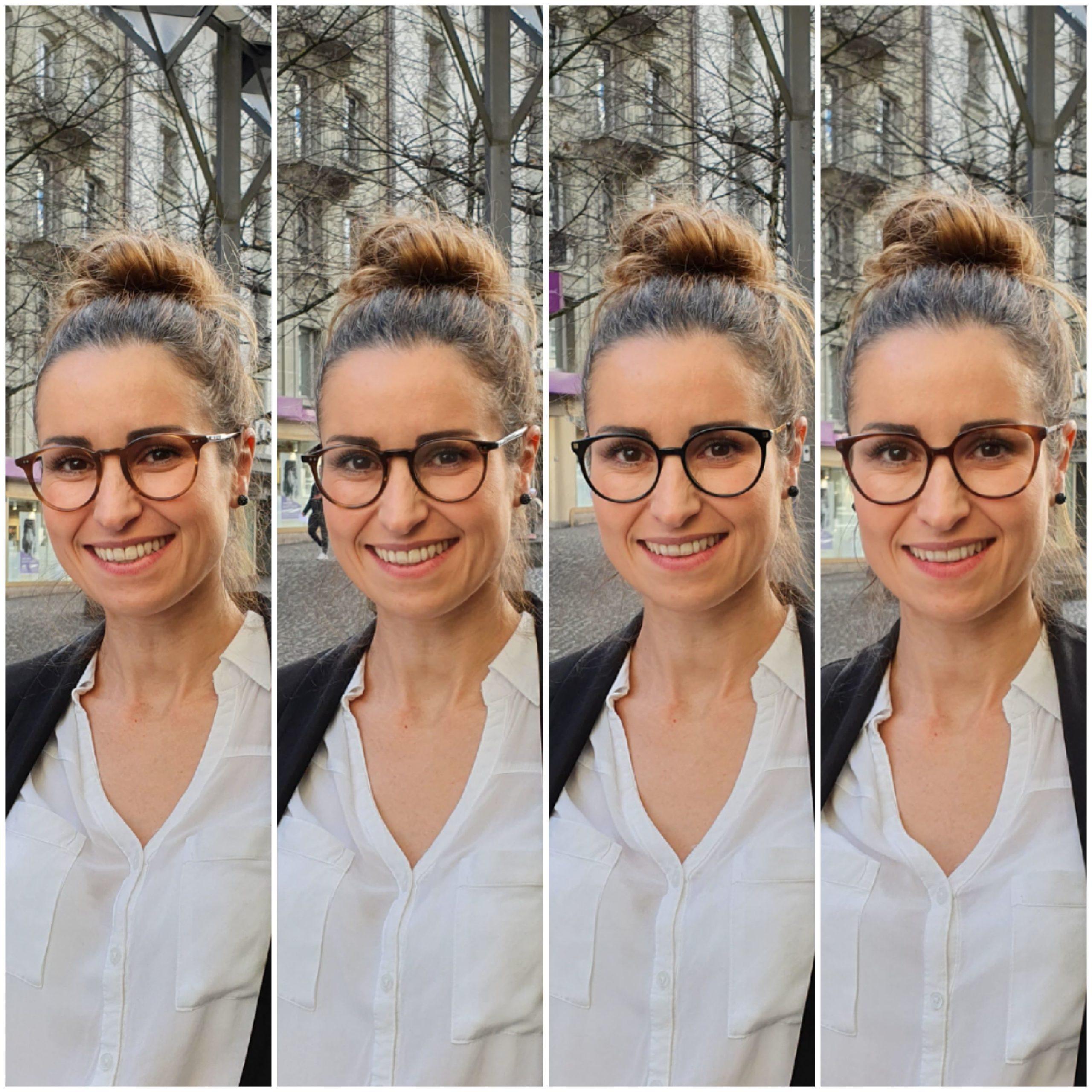 Sandra avec des lunettes